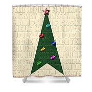 The Language Of Christmas Shower Curtain