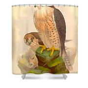 The Lanner Falcon Shower Curtain