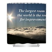 The Largest Room In The World Shower Curtain