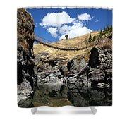 The Last Inca Rope Bridge Shower Curtain