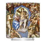 The Last Judgment - Detail Shower Curtain