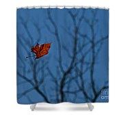 The Last Leaf Fell Shower Curtain
