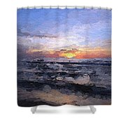 The Last Light Shower Curtain