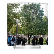 The Last Living Thing Pulled From The Rubble... The Survivor Tree Shower Curtain