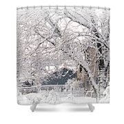The Last Snow Storm Shower Curtain