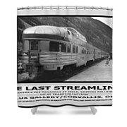 The Last Streamliner Poster Shower Curtain
