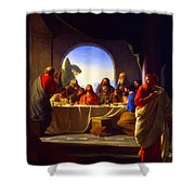 The Last Supper By Carl Heinrich Bloch Shower Curtain