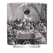 The Last Supper From The 'great Passion' Series Shower Curtain by Albrecht Duerer