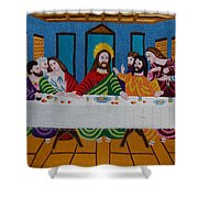 The Last Supper Hand Embroidery Shower Curtain by To-Tam Gerwe