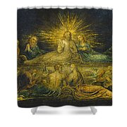 The Last Supper Shower Curtain by William Blake