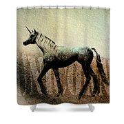 The Last Unicorn Shower Curtain by Bob Orsillo