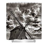 The Last Windmill Shower Curtain