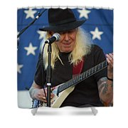 The Late Great Johnny Winter Shower Curtain