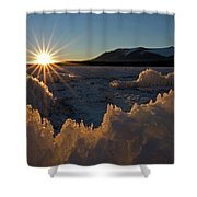 The Late Season Suns Skims Shower Curtain