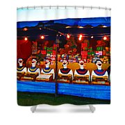 The Laughing Clowns  Shower Curtain