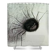 The Laughing Spider Shower Curtain