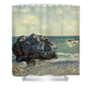 The Laugland Bay Shower Curtain by Alfred Sisley