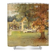 The Lawn Tennis Party Shower Curtain by Arthur Melville