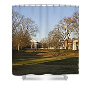 The Lawn University Of Virginia Shower Curtain