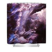 The Lazuras Nebula Shower Curtain