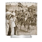 The Leader Of The Allies, Illustration Shower Curtain