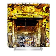 The Leather Shop Fireplace Shower Curtain