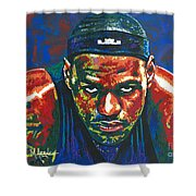The Lebron Death Stare Shower Curtain