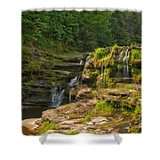 The Ledges Waterfalls Shower Curtain