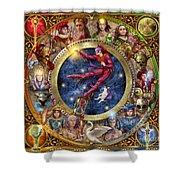 The Legacy Of The Devine Tarot Shower Curtain by Ciro Marchetti