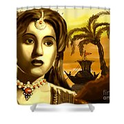 The Legend Actress Madhubala Shower Curtain