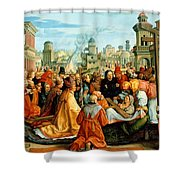 The Legend Of The Holy Cross Shower Curtain