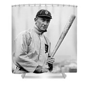 The Legendary Ty Cobb Shower Curtain by Gianfranco Weiss