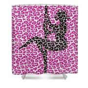 The Leopard Stripper Shower Curtain