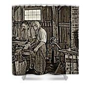 The Lesson Sepia Shower Curtain by Steve Harrington
