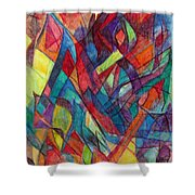 The Letter Alef 3 Shower Curtain