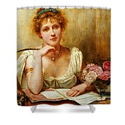 The Letter  Shower Curtain by George Goodwin Kilburne