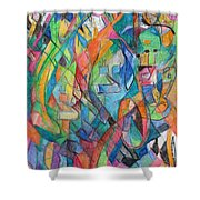 the letter Tzadi 2 Shower Curtain