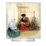 The Letter Writer Shower Curtain
