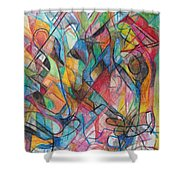 The Letter Yud 2 Shower Curtain