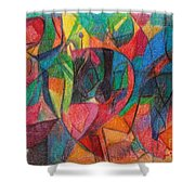 The Letter Yud Shower Curtain