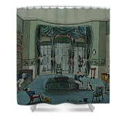 The Library, C.1820, Battersea Rise Shower Curtain by English School