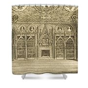 The Library, Engraved By Godfrey Shower Curtain