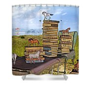 The Library Your Local Treasure Shower Curtain