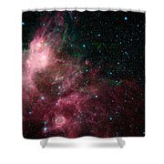 The Life And Death Of Stars Shower Curtain