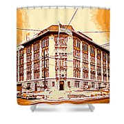 The Life Saver Building Shower Curtain