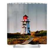 The Light At Covehead Harbour Shower Curtain
