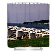 The Light At Marshall Point Shower Curtain