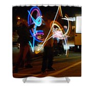 The Light Jugglers Shower Curtain by Steve Taylor