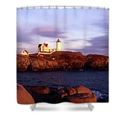 The Light On The Nubble Shower Curtain