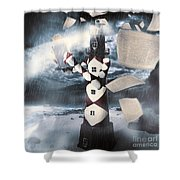 The Lighthouse And The Fishermans Tale Shower Curtain